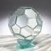 サッカーボールミラーオブジェ(銀色)
